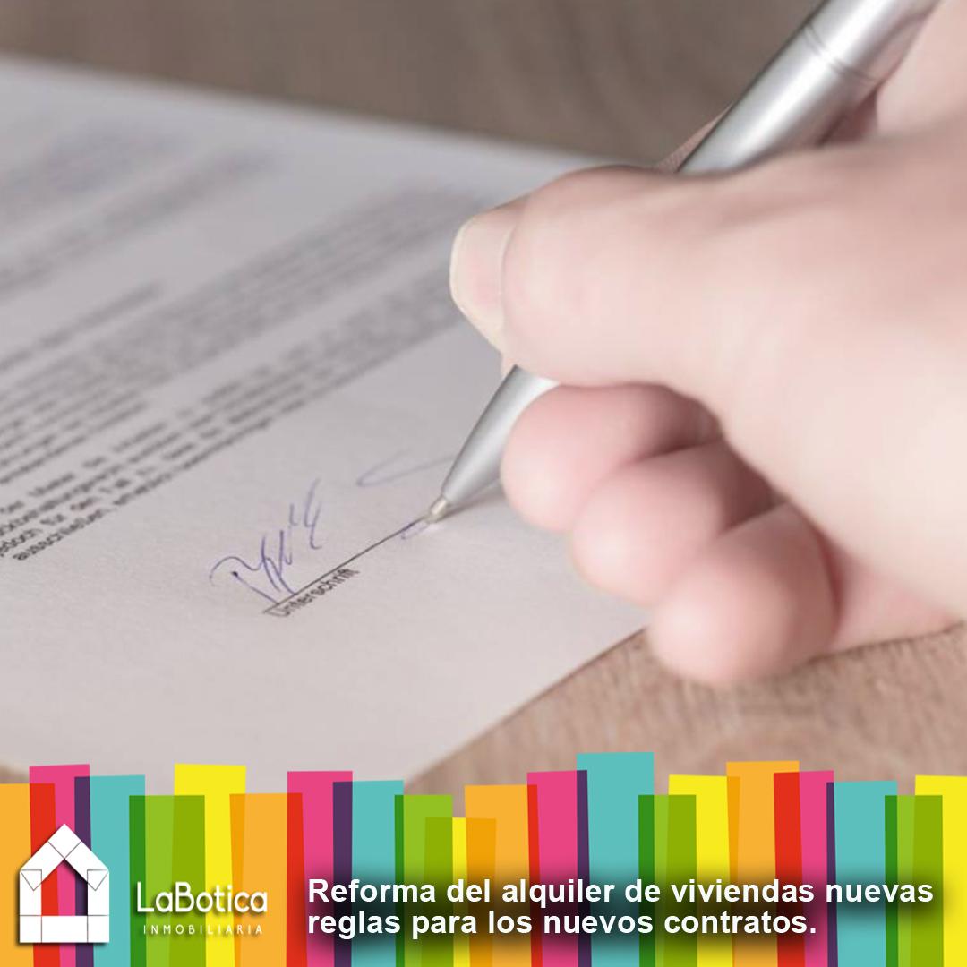 REFORMA DEL ALQUILER DE VIVIENDAS: NUEVOS CONTRATOS